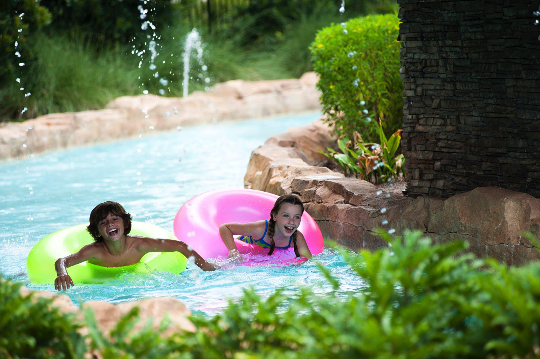 1. Fun on the lazy river at Hilton Orlando Bonnet Creek