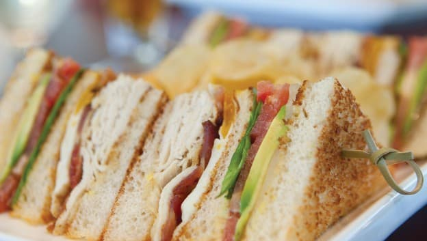 Sandwiches at The Clubhouse Grille