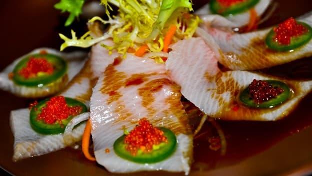 Zeta Asia Lounge sashimi