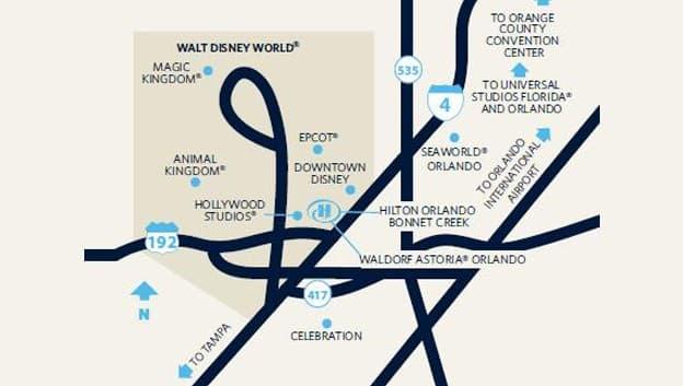 hilton hotels florida map