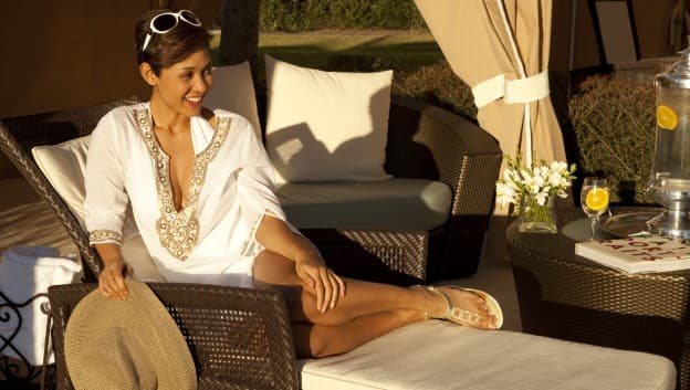 Woman on cabana