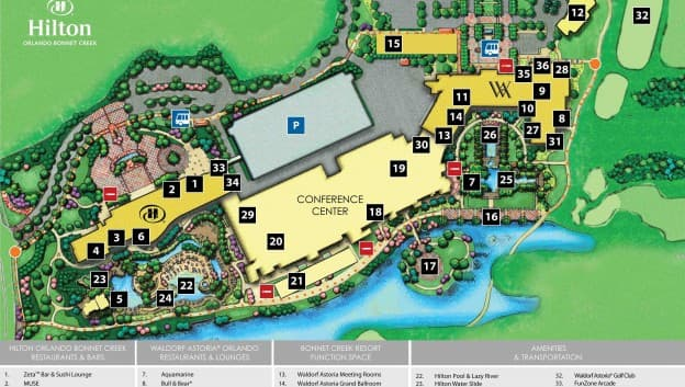 Map Of Hilton Orlando Bonnet Creek Property Map