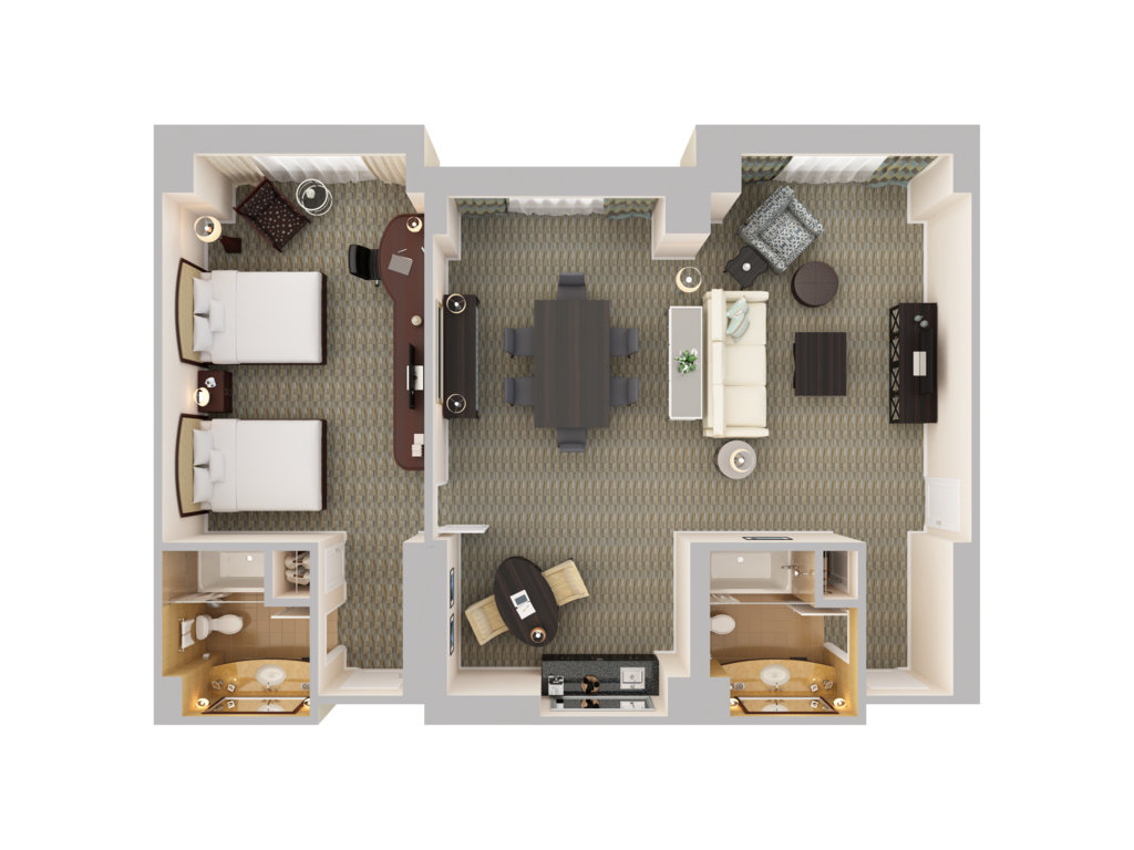 orlando hilton suites near walt disney world hilton orlando view 3d floor plans book now
