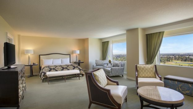 Executive suite bedroom with ensuite sitting area