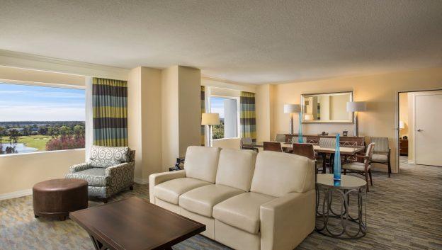 Hilton suite living area