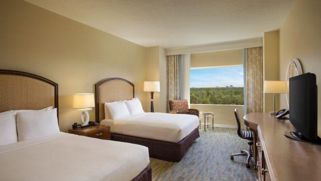 Hilton suite double queen bedroom