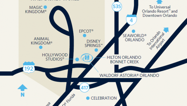 Orlando Florida On Map.Florida Resort Hotels Near Disney Maps Directions Hilton