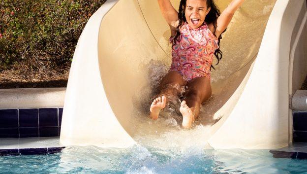 Splash down our waterslide